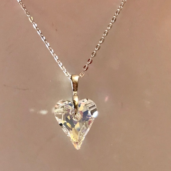 NWT genuine Swarovski crystal wild heart pendant